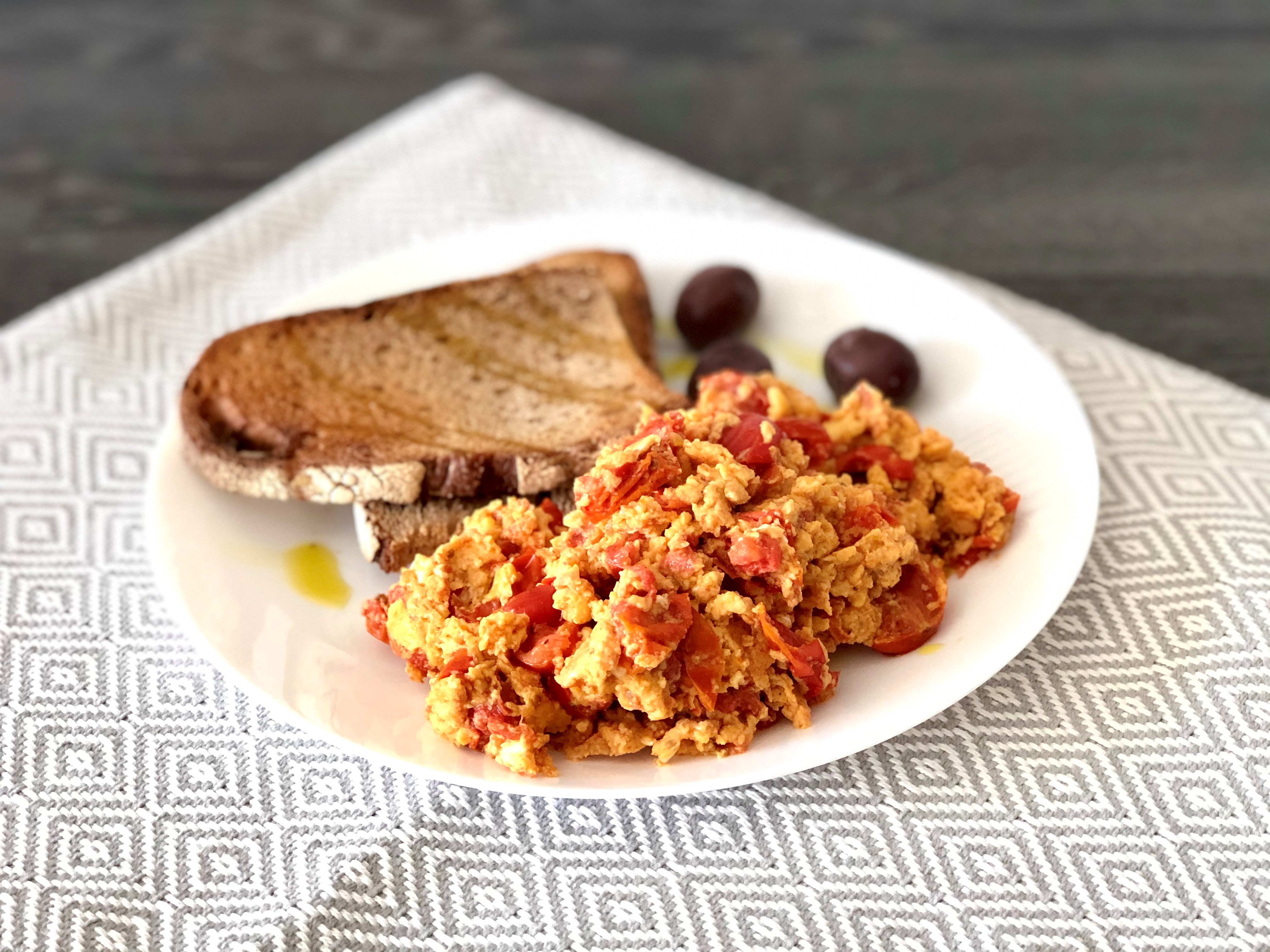 Spanish Chorizo and Tomato Scrambled Eggs