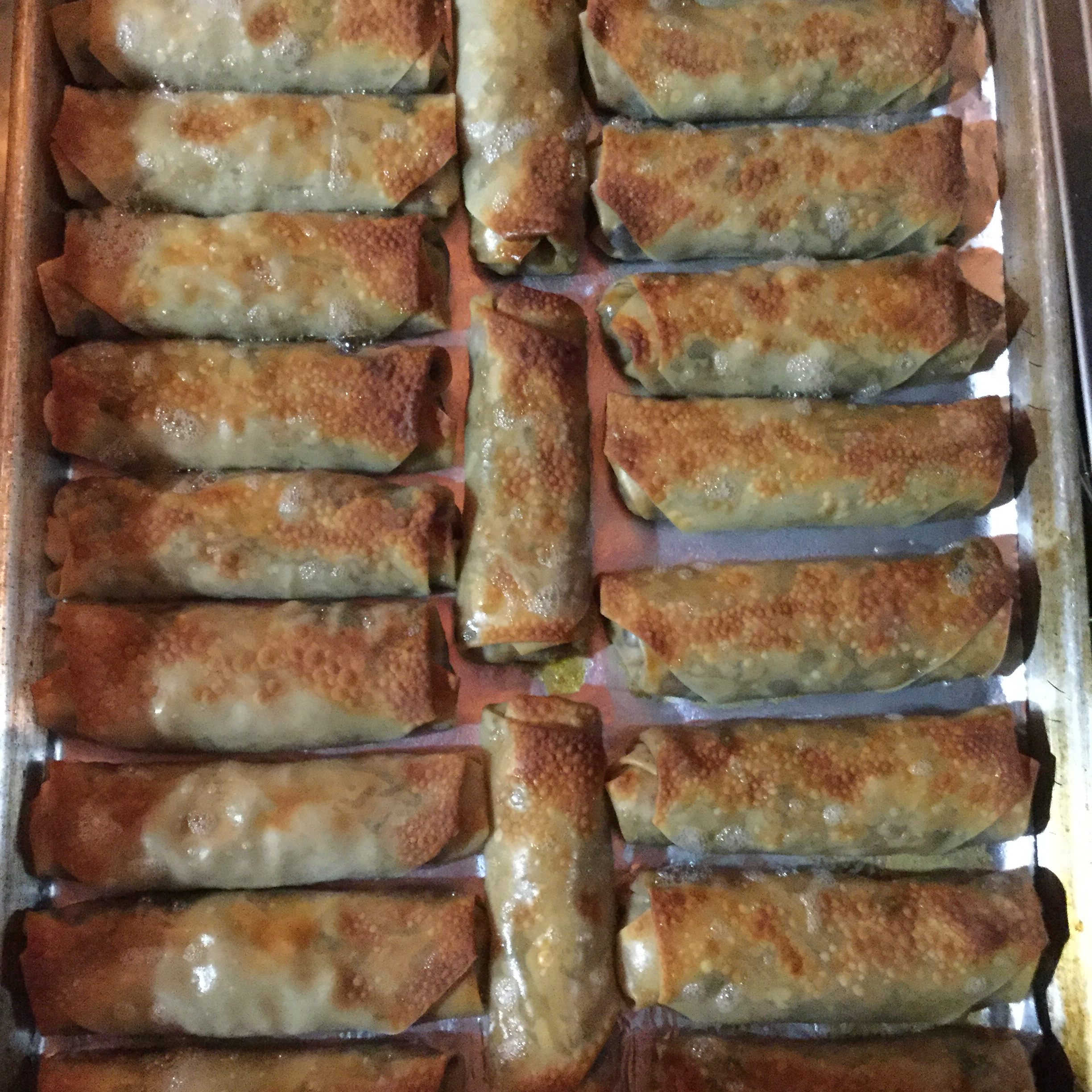 Southwestern Egg Rolls with Avocado Cilantro Sauce Laurie