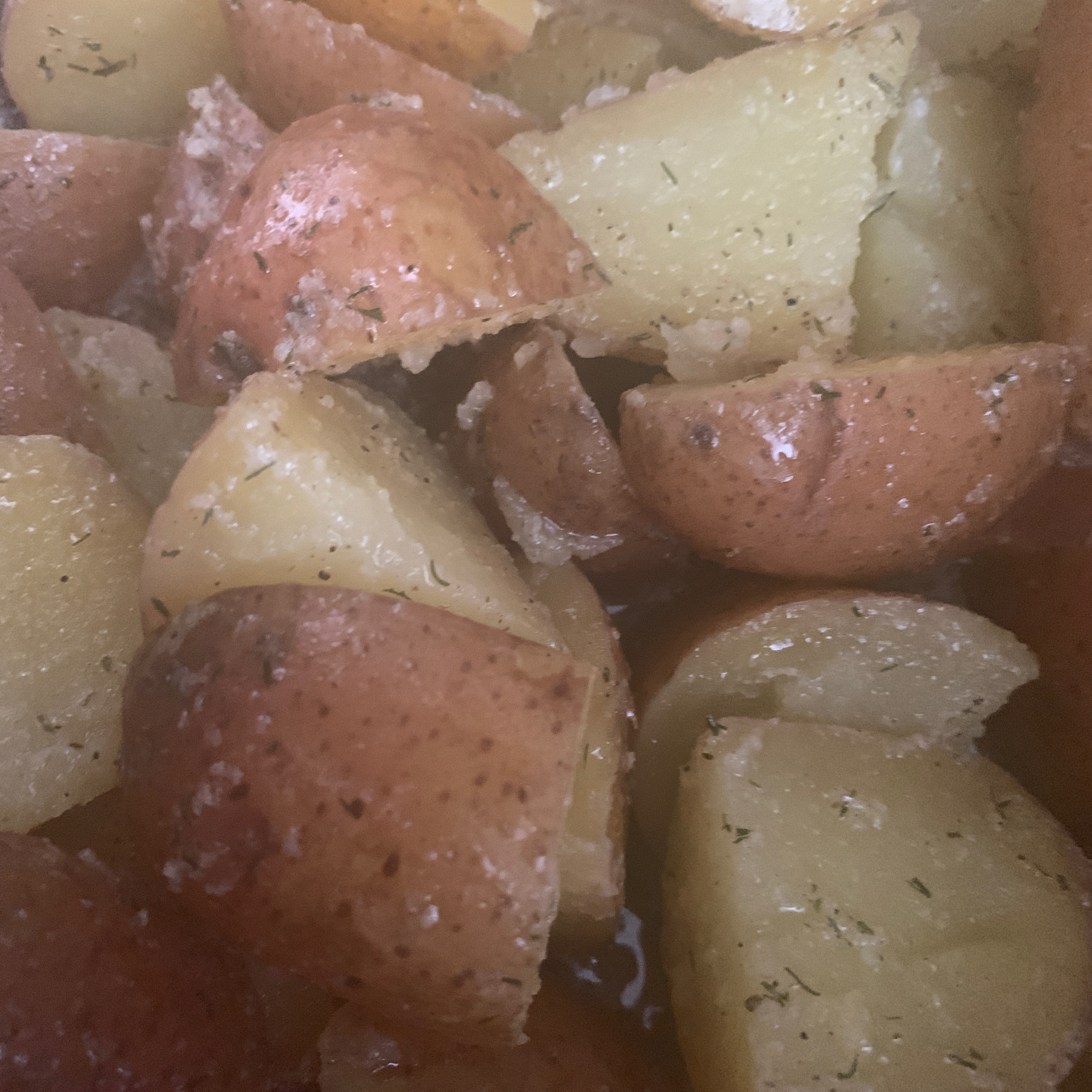 Garlic Dill New Potatoes