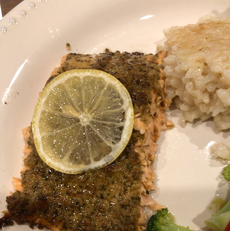 Stephan's Broiled Salmon Pesto Heather Breslin