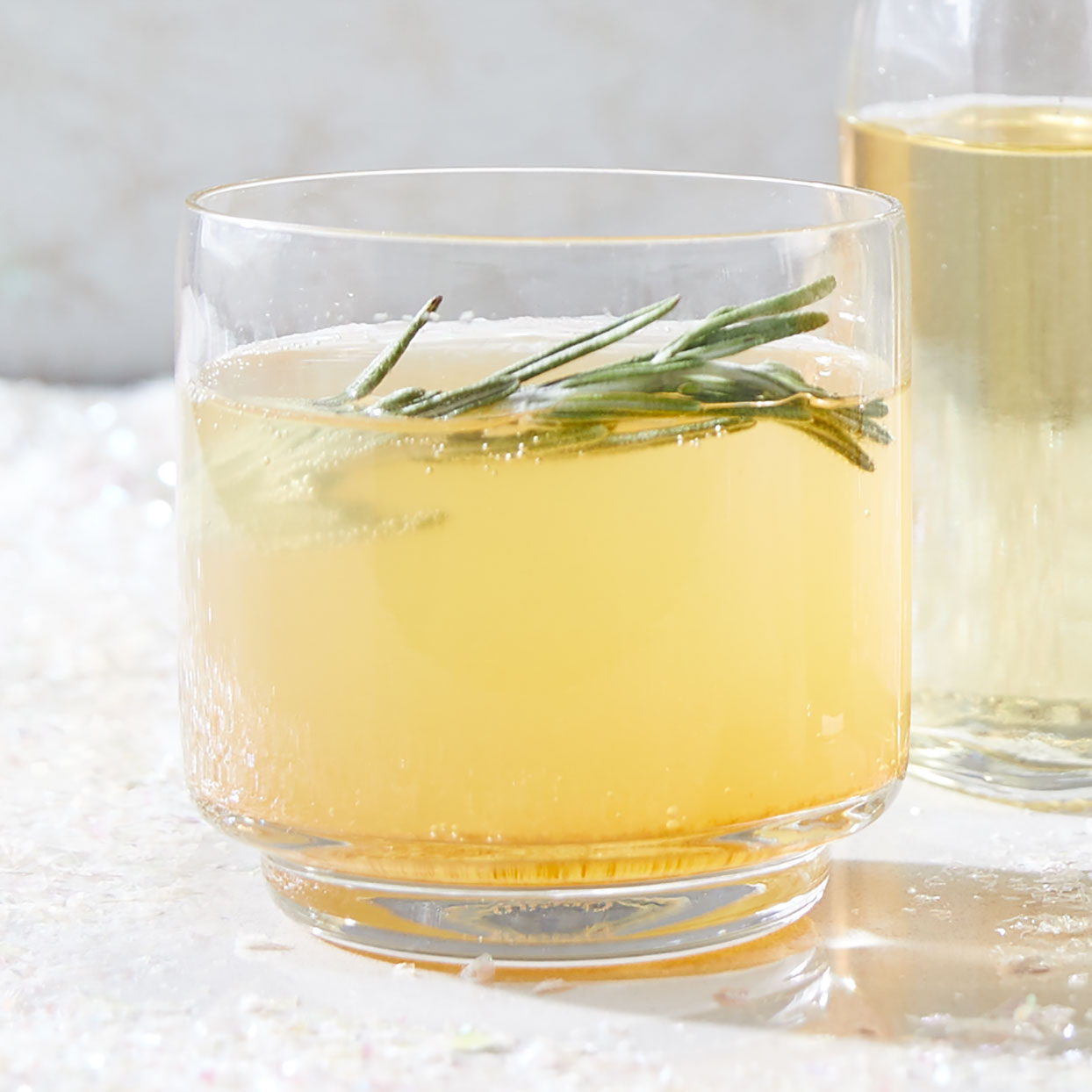 Fizzy Rosemary Cider Mocktail