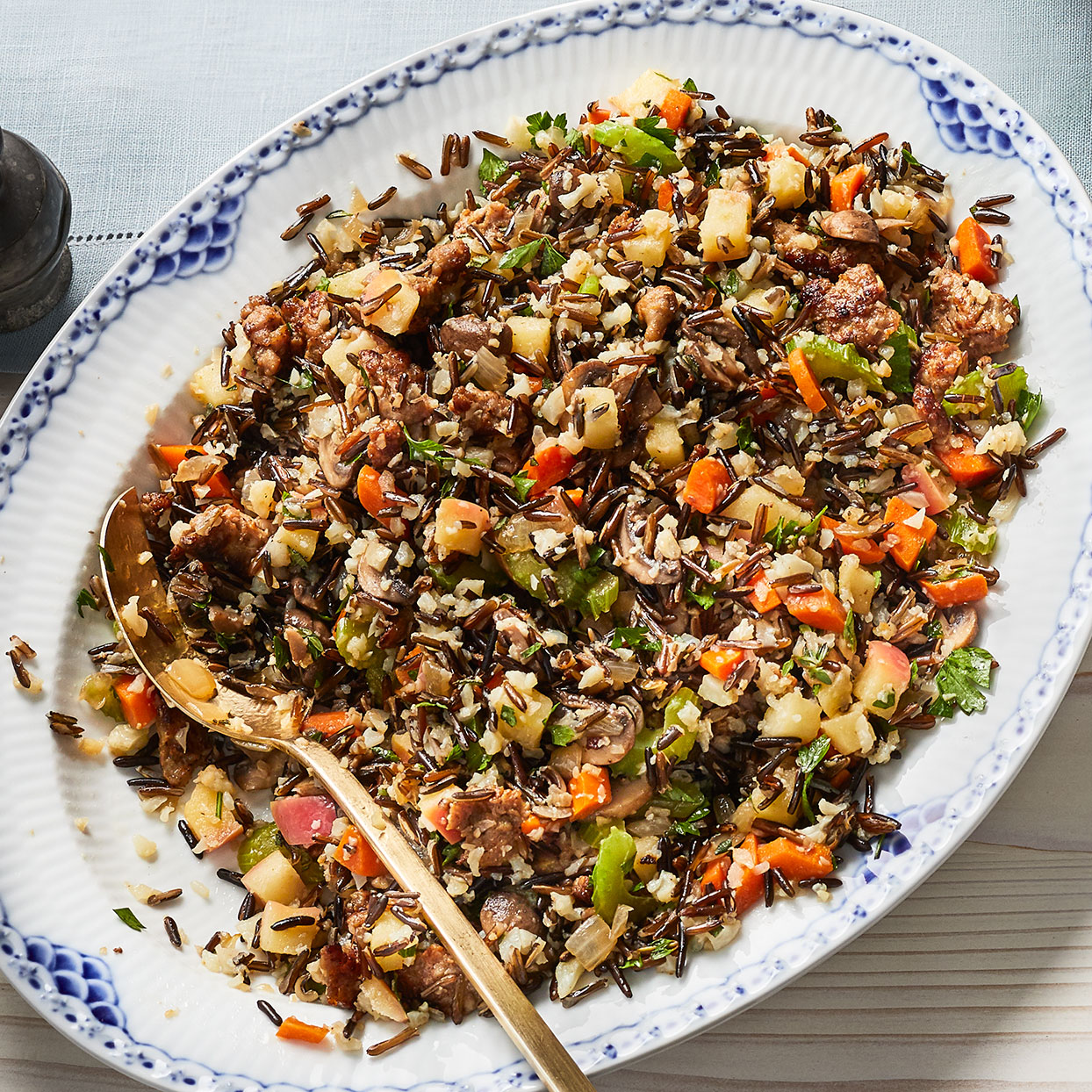Sausage, Apple & Wild Rice Stuffing Trusted Brands