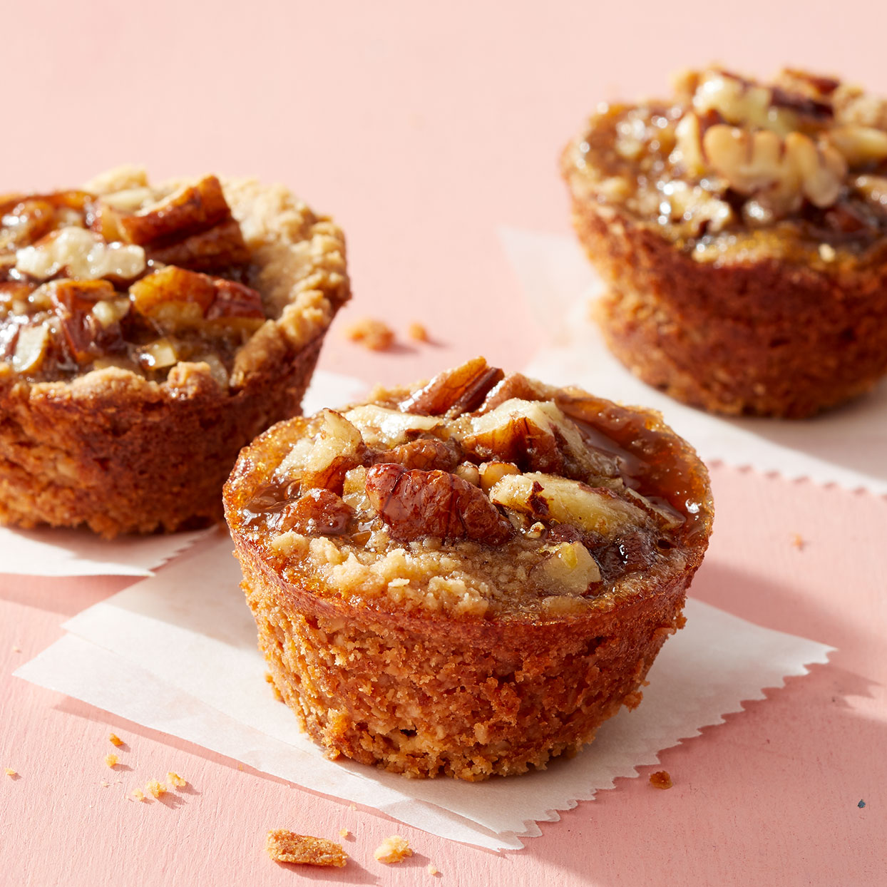 The key to these decadent treats is the portion size--baking them in mini-muffin tins keeps the carbs and saturated fat in check. And maple syrup allows you to make this pecan pie recipe without corn syrup. Source: Diabetic Living Magazine, Winter 2020