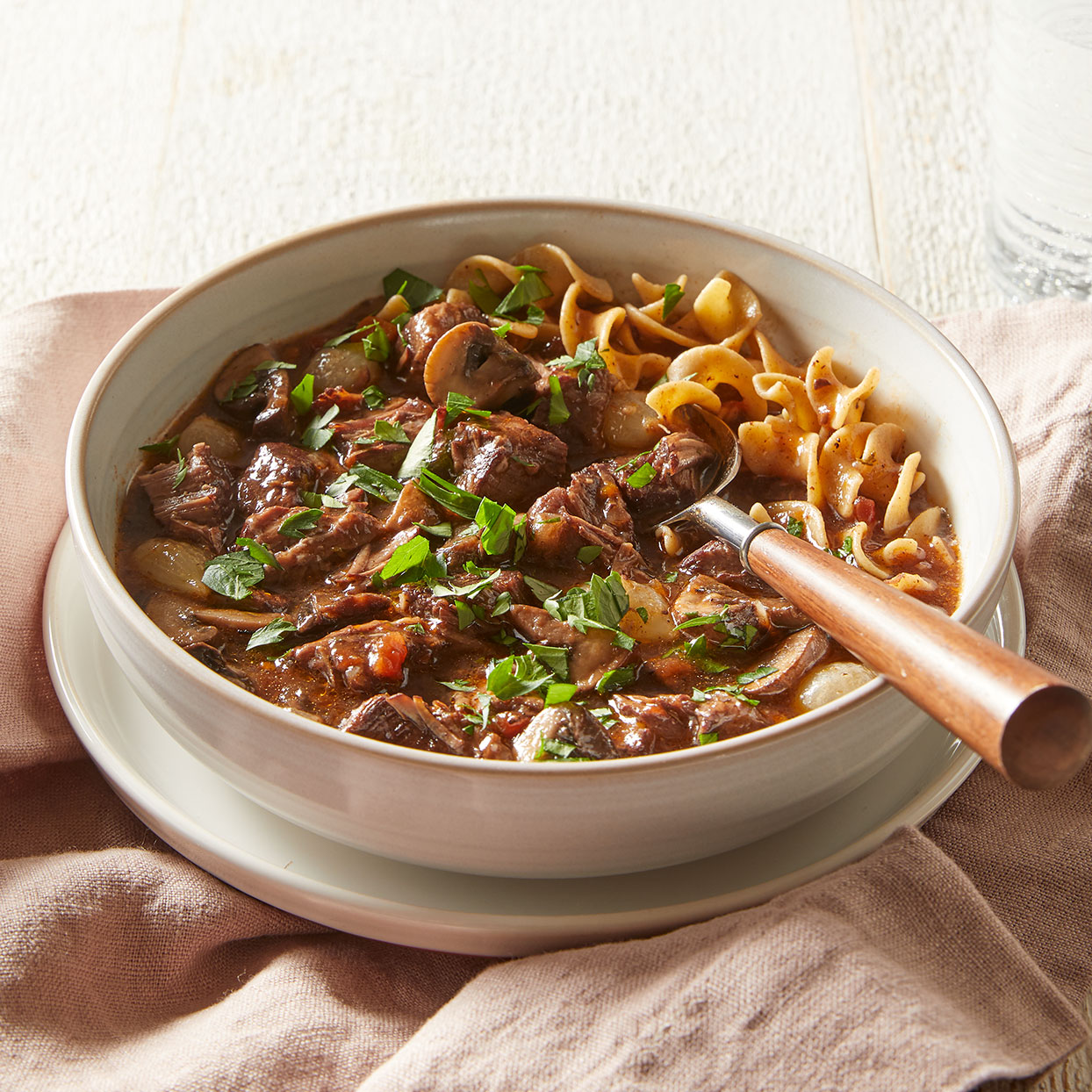Use your Instant Pot as a pressure cooker for this easy beef bourguignon recipe. If desired, serve this stew with whole-wheat egg noodles to soak up the delicious sauce. Source: Diabetic Living Magazine, Winter 2020