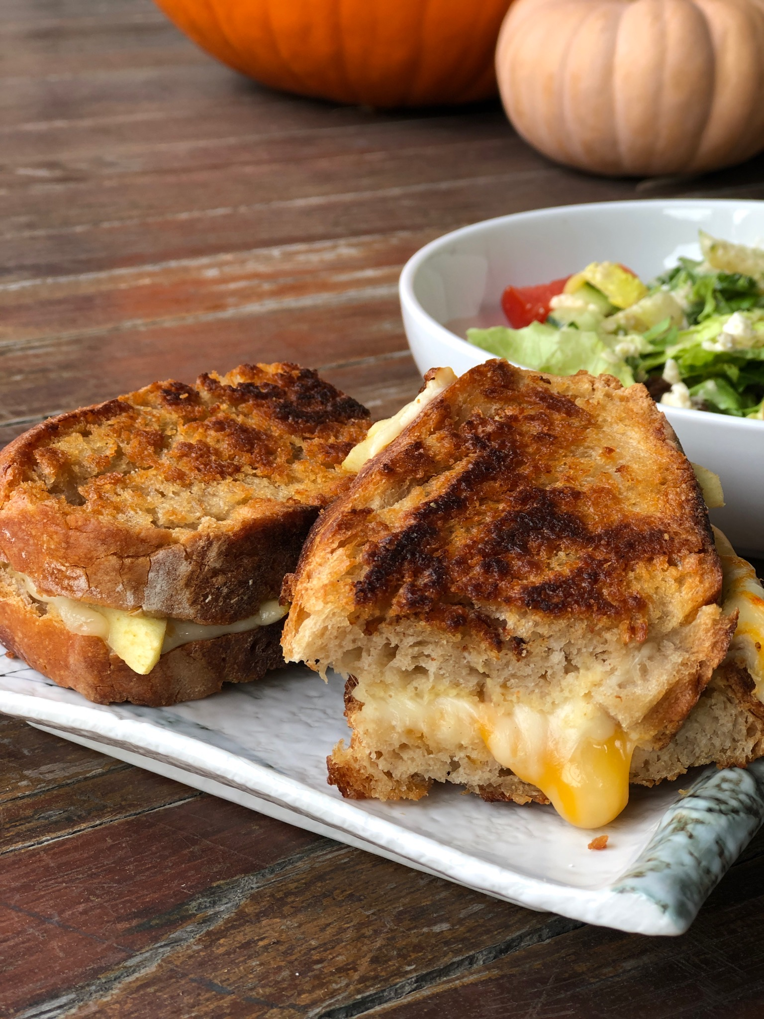 Pumpkin Bread Grilled Cheese Sandwiches