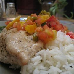 Salmon with Fruit Salsa LUNASCOMET