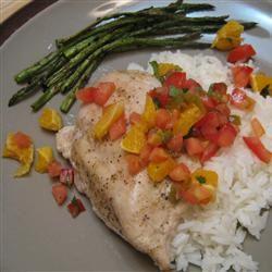 Salmon with Fruit Salsa