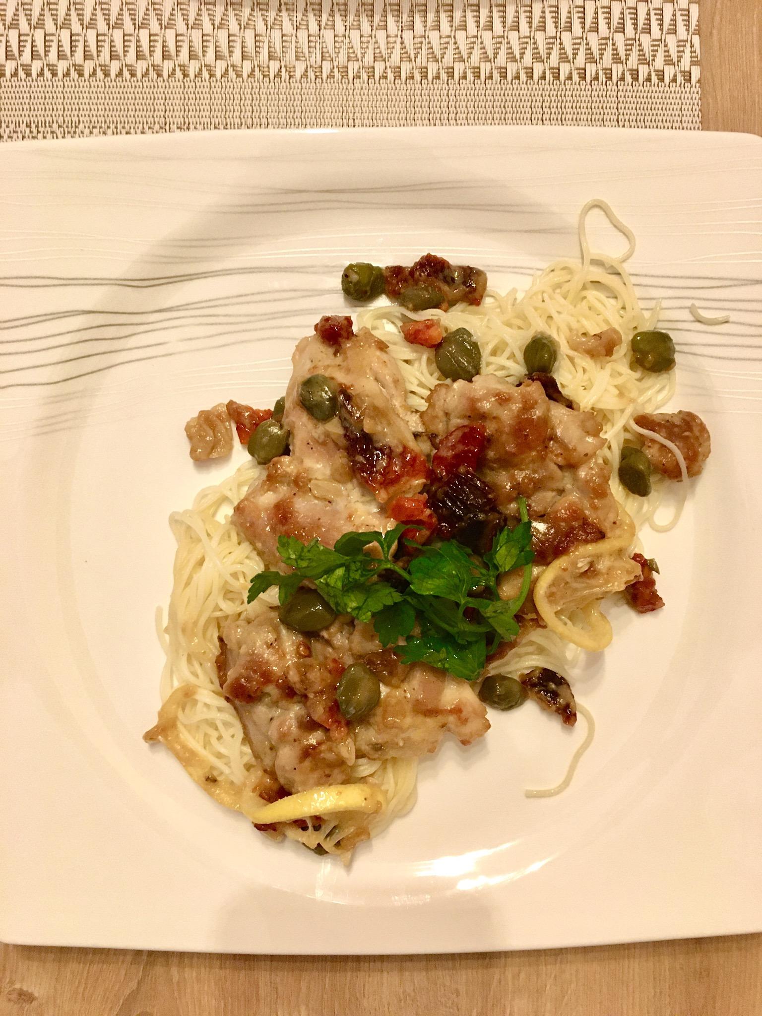 Chicken Piccata with Capers Onur Guner