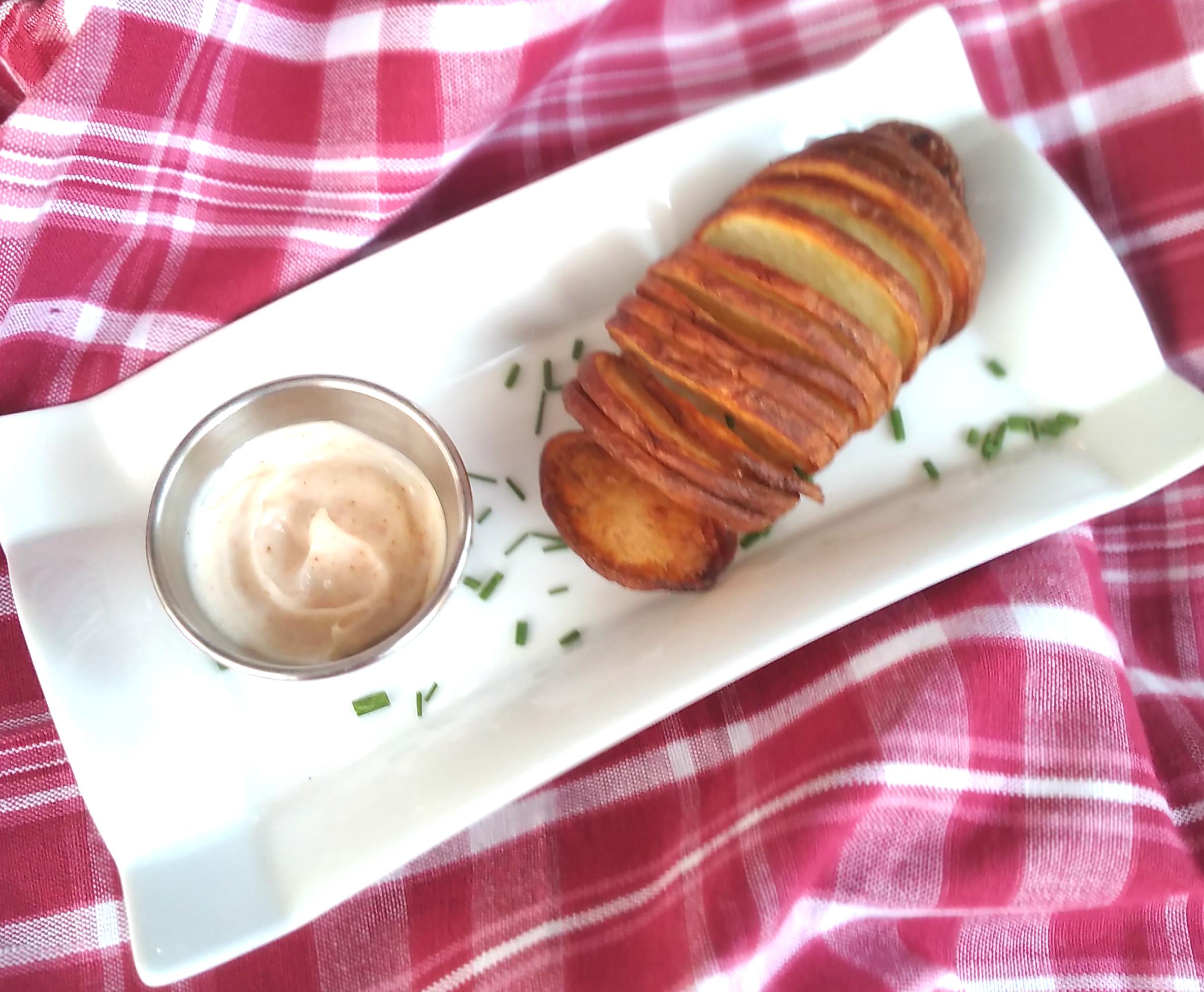 Hasselback Air Fryer Potatoes Bren