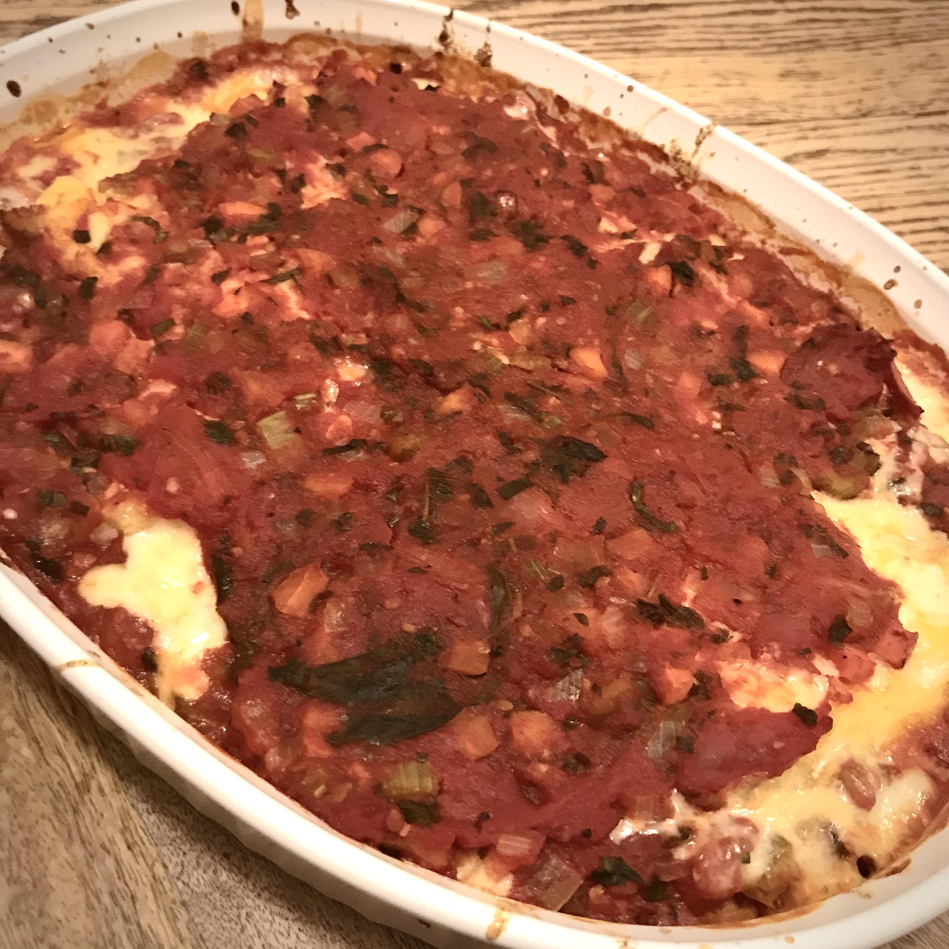 Baked Polenta with Tomato Sauce