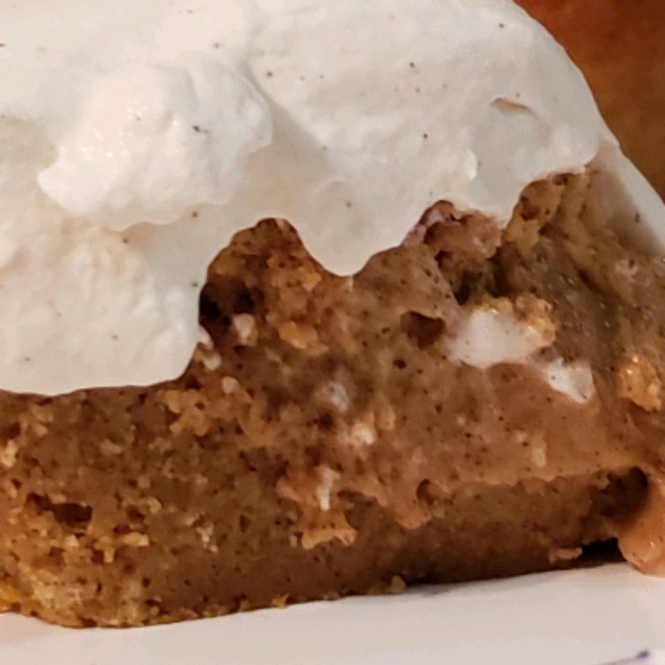 Pumpkin Magic Cake with Maple Cinnamon Whipped Cream