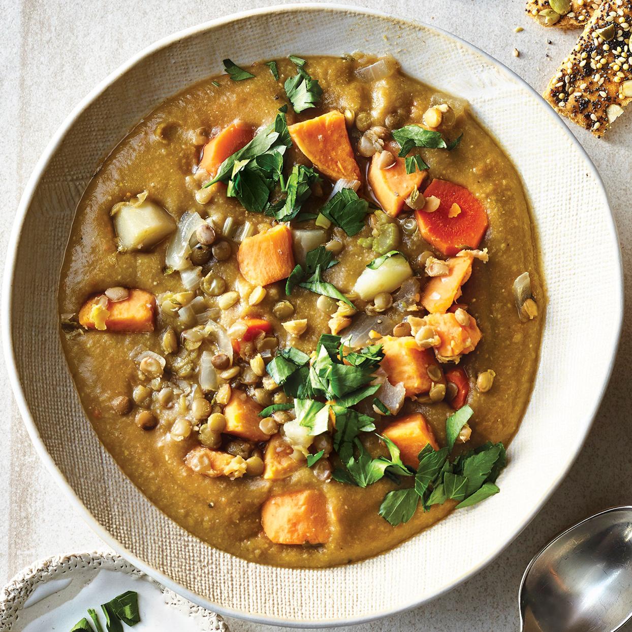 Slow-Cooker Lentil, Carrot & Potato Soup Cooking Light