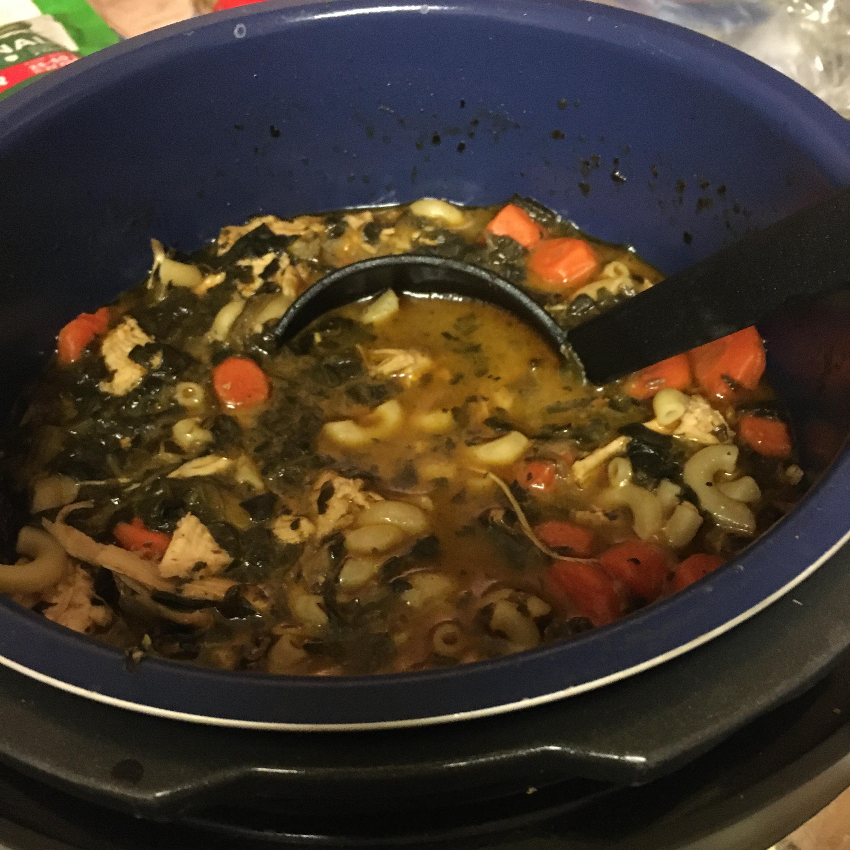 Instant Pot® Coconut Cream Chicken Noodle Soup Smilingrn56