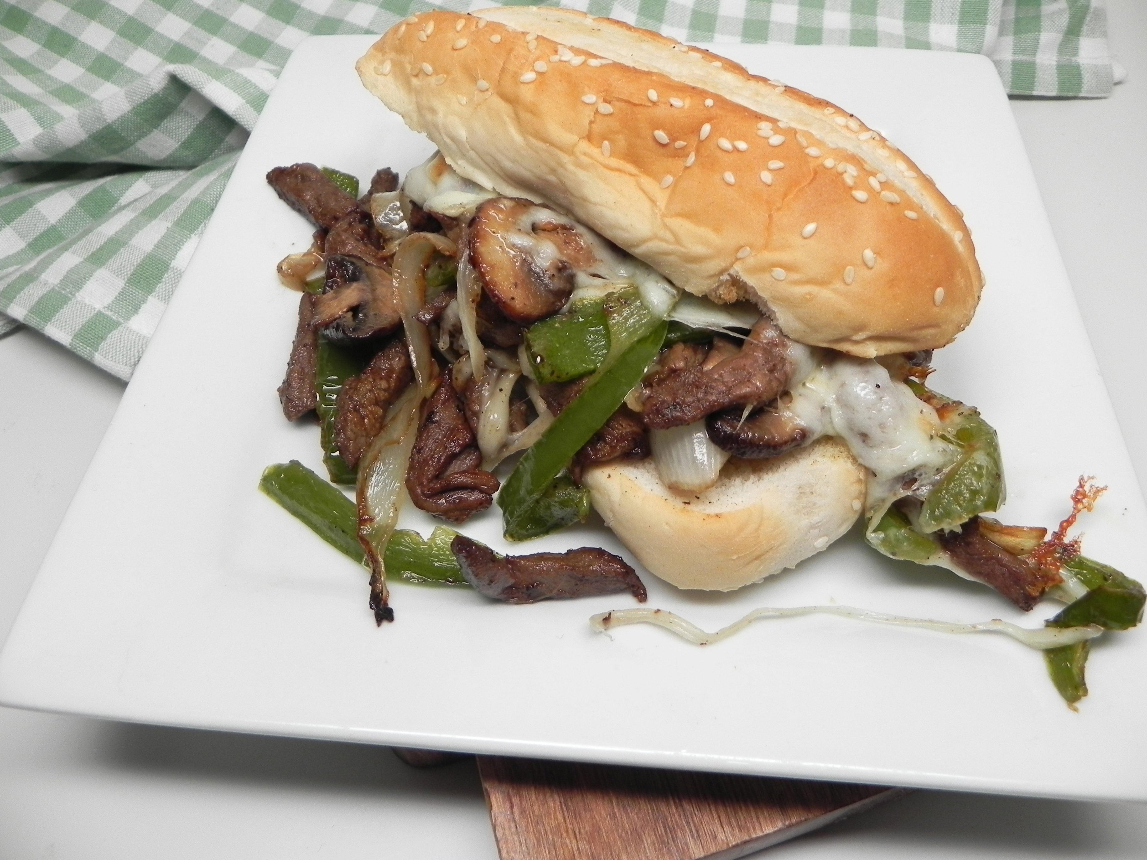 Air Fryer Steak and Cheese Melts