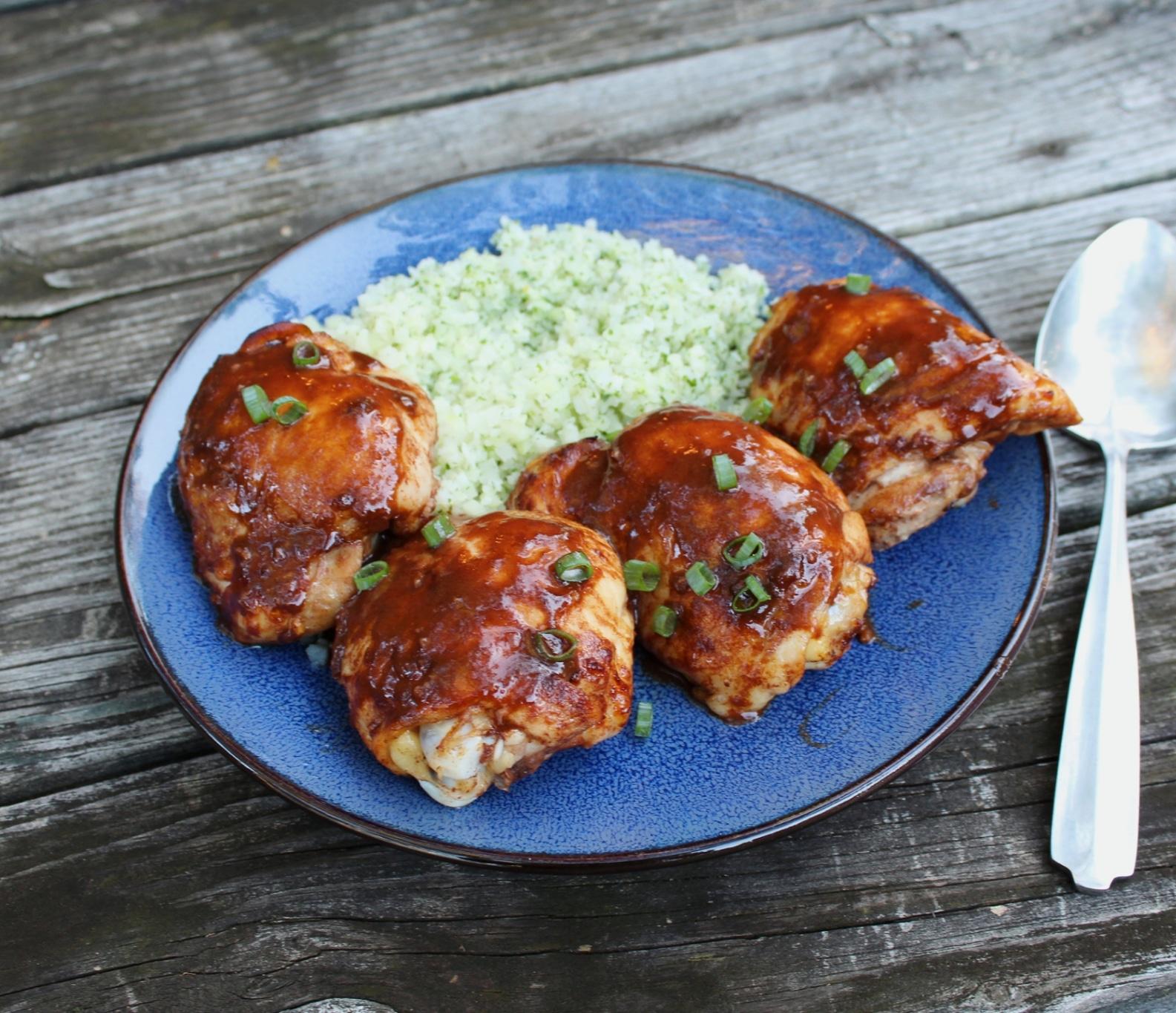 Asian Glazed Chicken Thighs Essanaye
