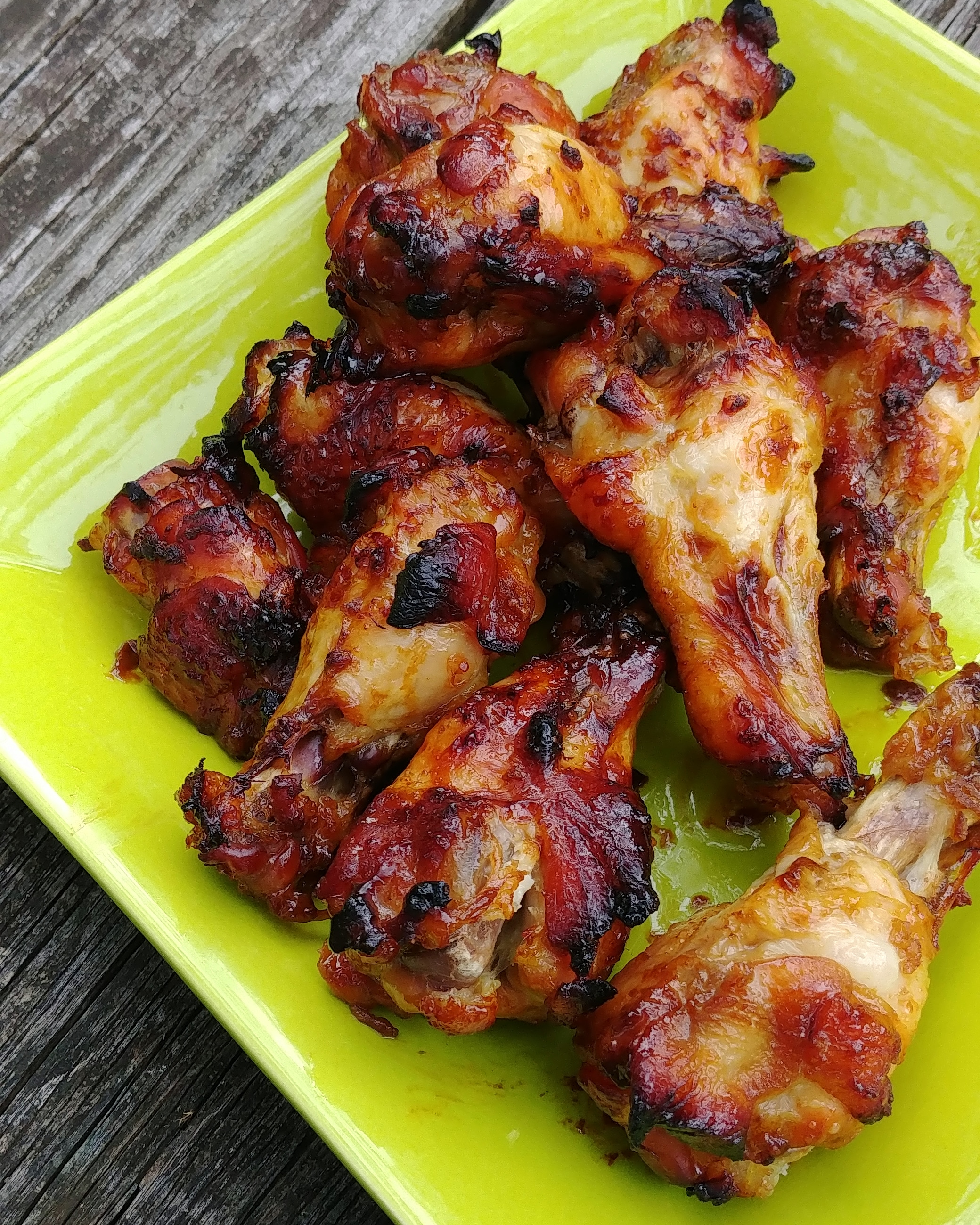 "An easy teriyaki marinade for baked chicken wings gets its sweet tropical tang from pineapple juice. ""This is my go to teriyaki wings recipe,"" says theharrower. ""The longer they marinate the better. While baking the wings in the oven, I simmer the sauce on the stove with 1/4 cup of cold water and 1 Tbs of corn starch. Once finished I toss the wings in the sauce. You can also put pineapple rings on top of the wings half way through baking. They come out great."""