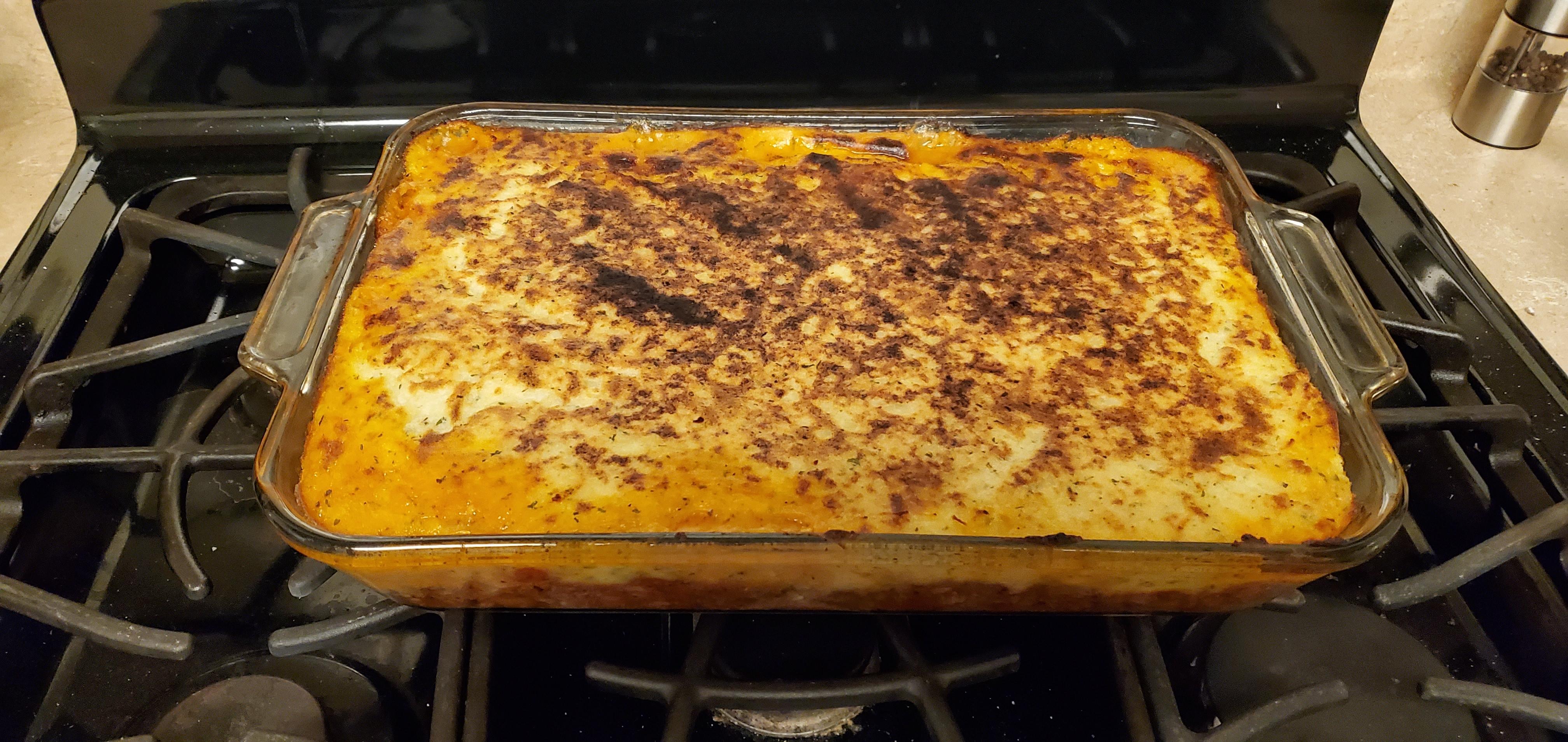 Easy Shepherd's Pie with Garlic Romano Potatoes