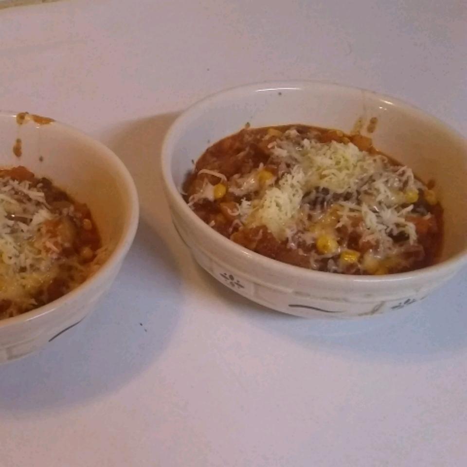 Tex-Mex Turkey Chili with Black Beans, Corn and Butternut Squash