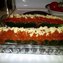 Italian Meatloaf in Zucchini Boats Cass
