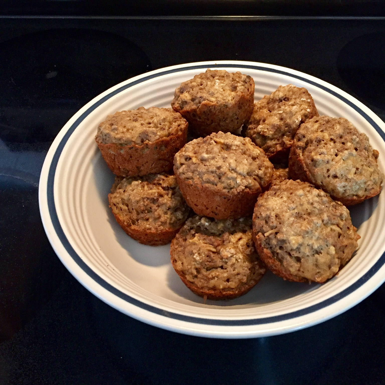 Low Fat Apple Bran Muffins