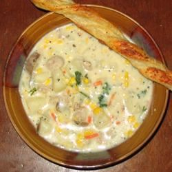 Corn Chowder with Sausage stylistmama