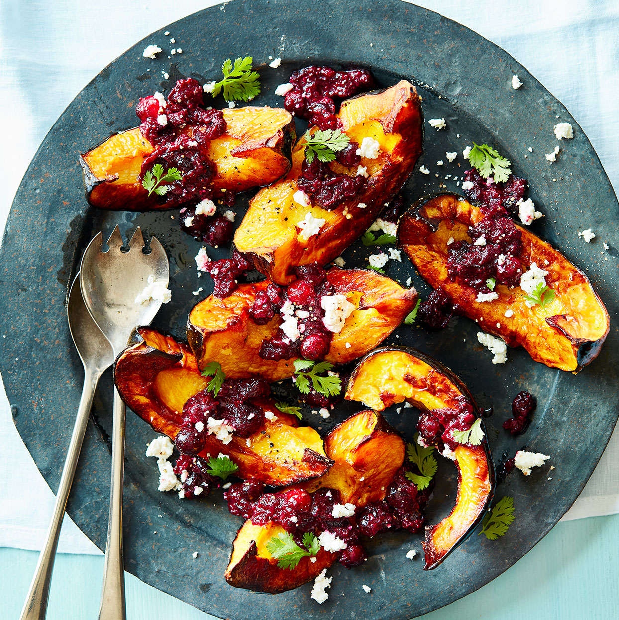 Roasted Acorn Squash with Double Cranberry Chutney Danielle Centoni