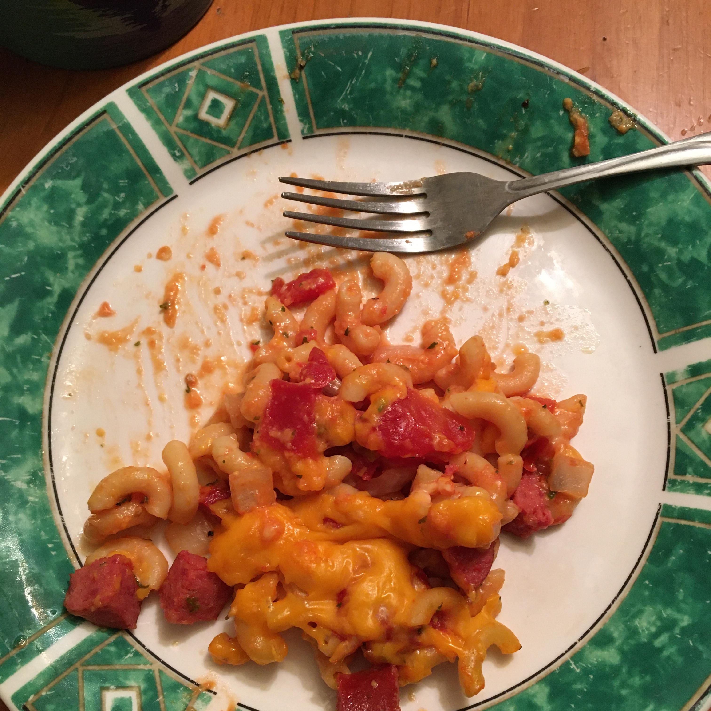 Cheesy Smoked Sausage Casserole