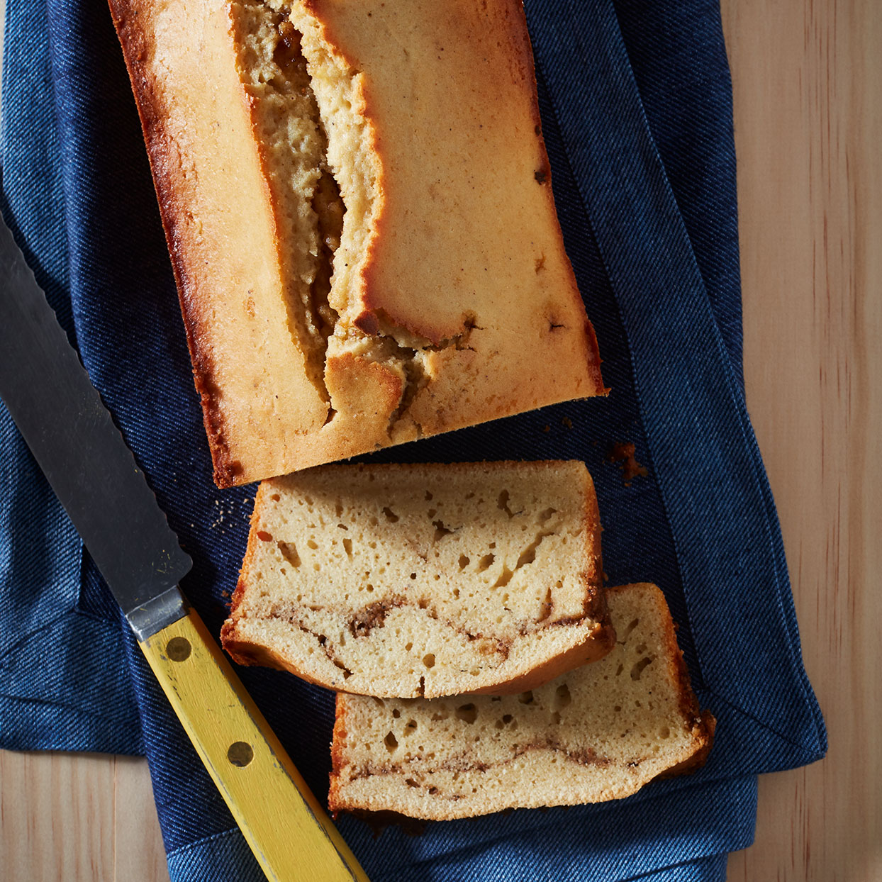 A mashed russet potato gives a light and tender crumb to this tea cake recipe. Slices of the loaf are wonderful the next day, toasted and glossed with butter.