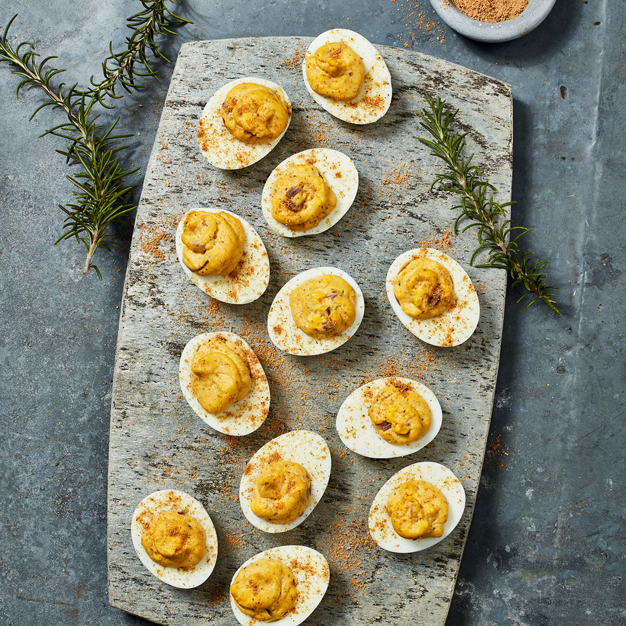 Rosemary Deviled Eggs Lior Lev Sercarz