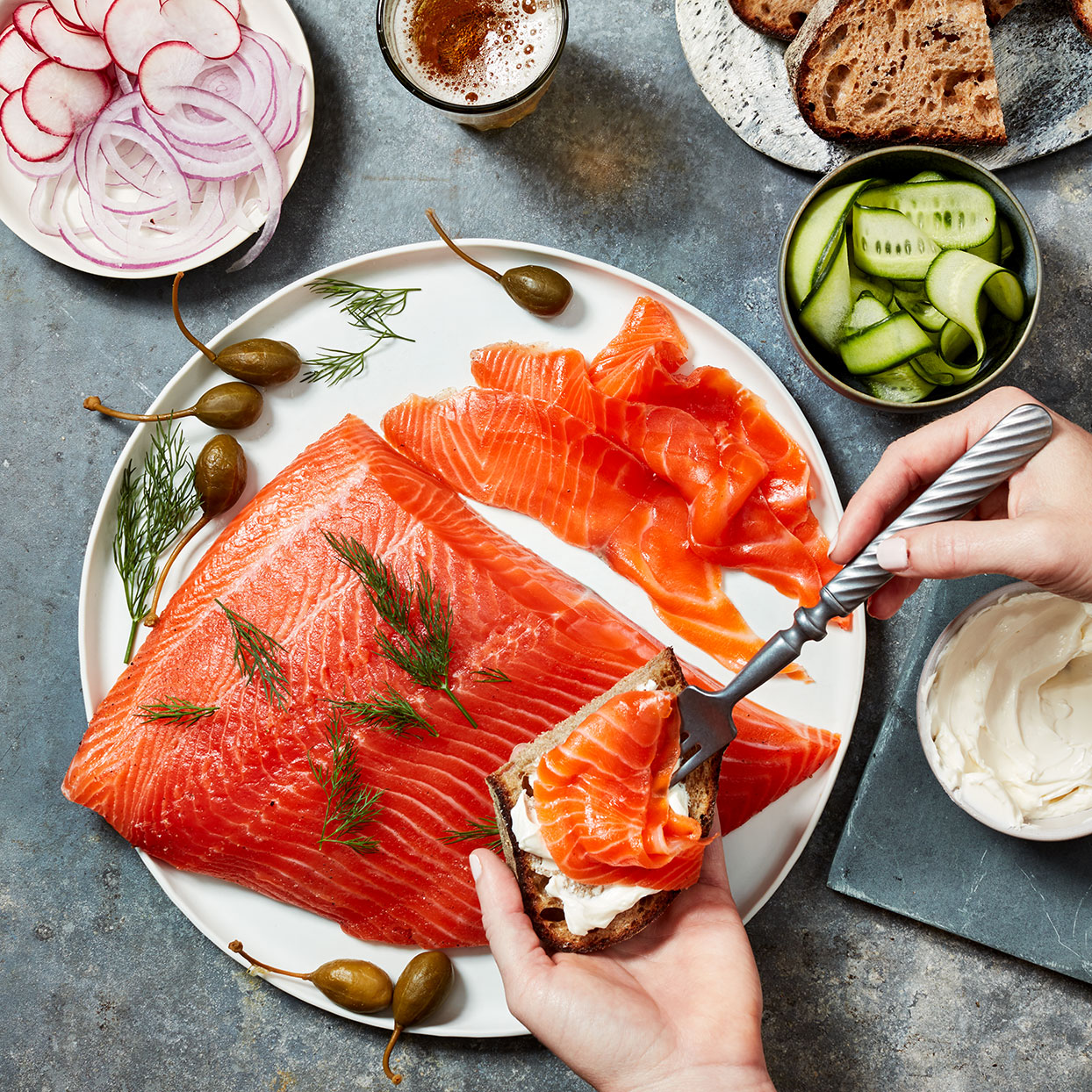 Cardamom-Cured Salmon Gravlax Trusted Brands