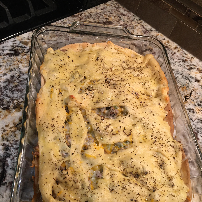 Ham and Cheese Slab Pie Carol jselle