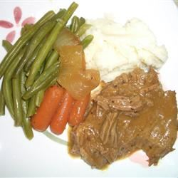 Three Packet Slow Cooker Roast