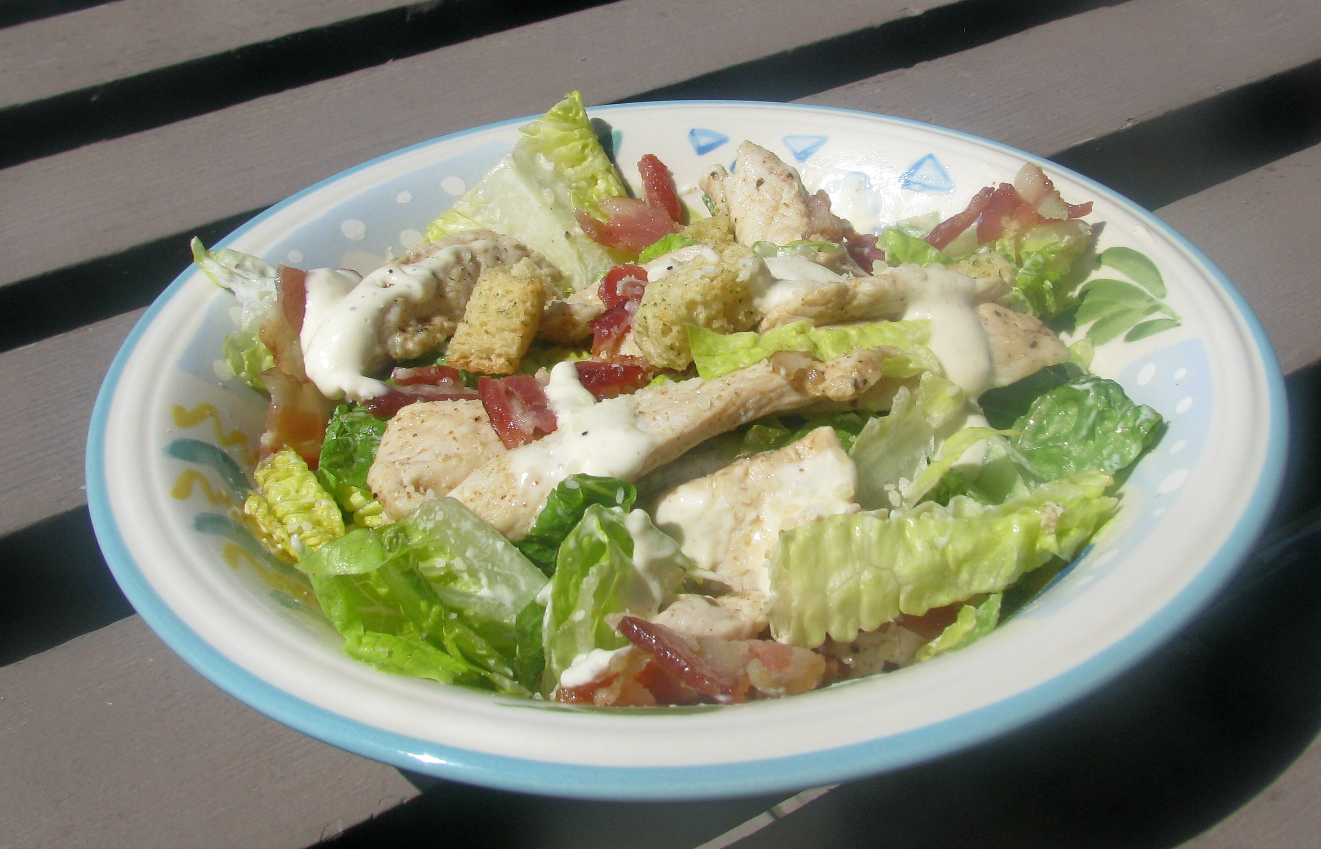 Easy and Fast Cajun Chicken Caesar Salad lazyme