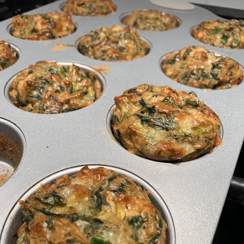 Savory Zucchini Chard Muffins MissEfrey