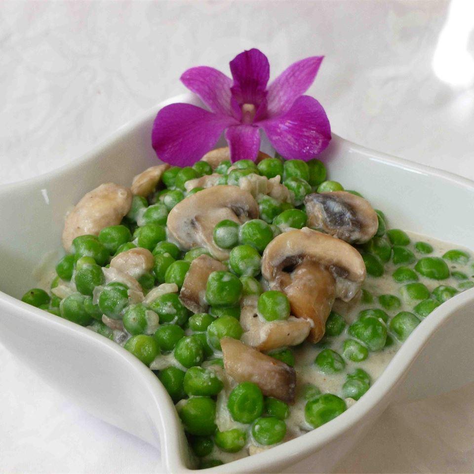 Creamy Mushroom Peas OkinawanPrincess