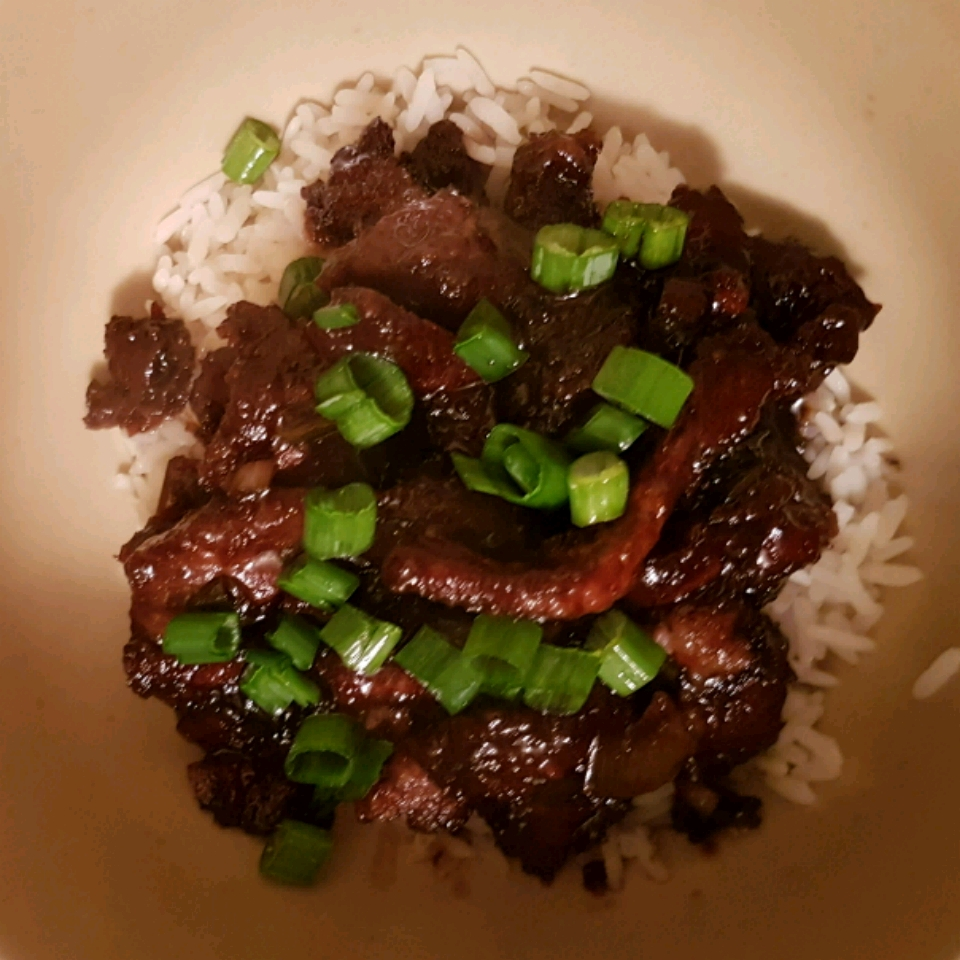 Mongolian Beef and Spring Onions anita J