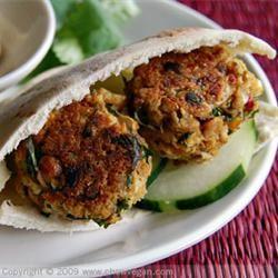 Easy Baked Falafel with Cucumber-Yogurt Sauce Wyome