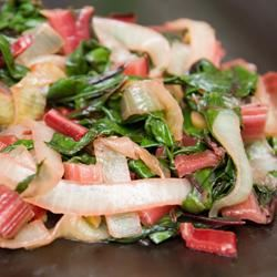 Red Chard and Caramelized Onions