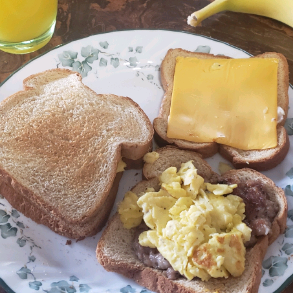 Egg, Sausage and Cheese Breakfast Sandwich Patrick