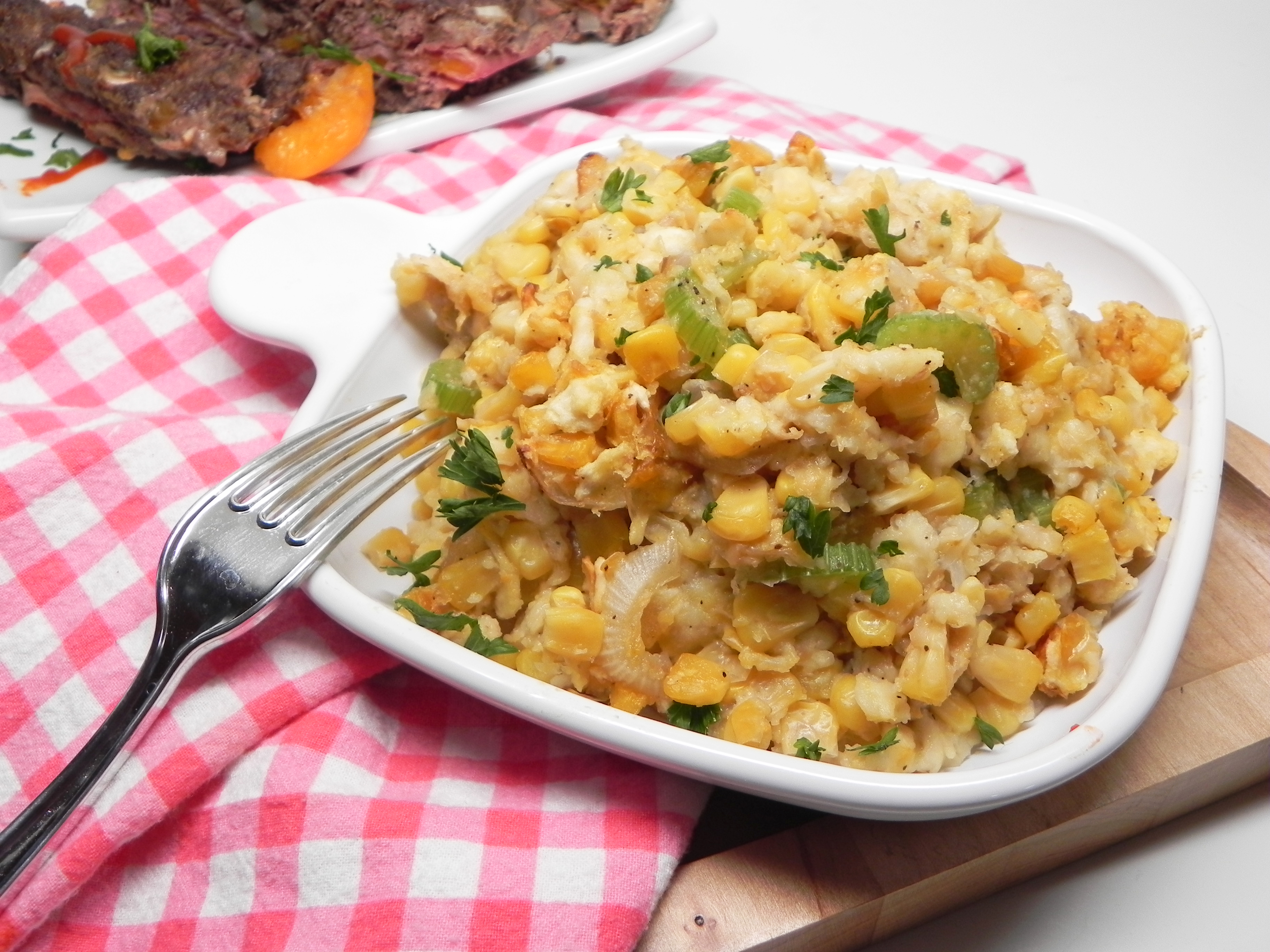 Corn Casserole with Crackers