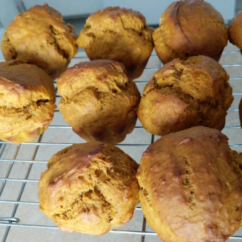 Mini Pumpkin Muffins with Orange Drizzle Crystal Wells