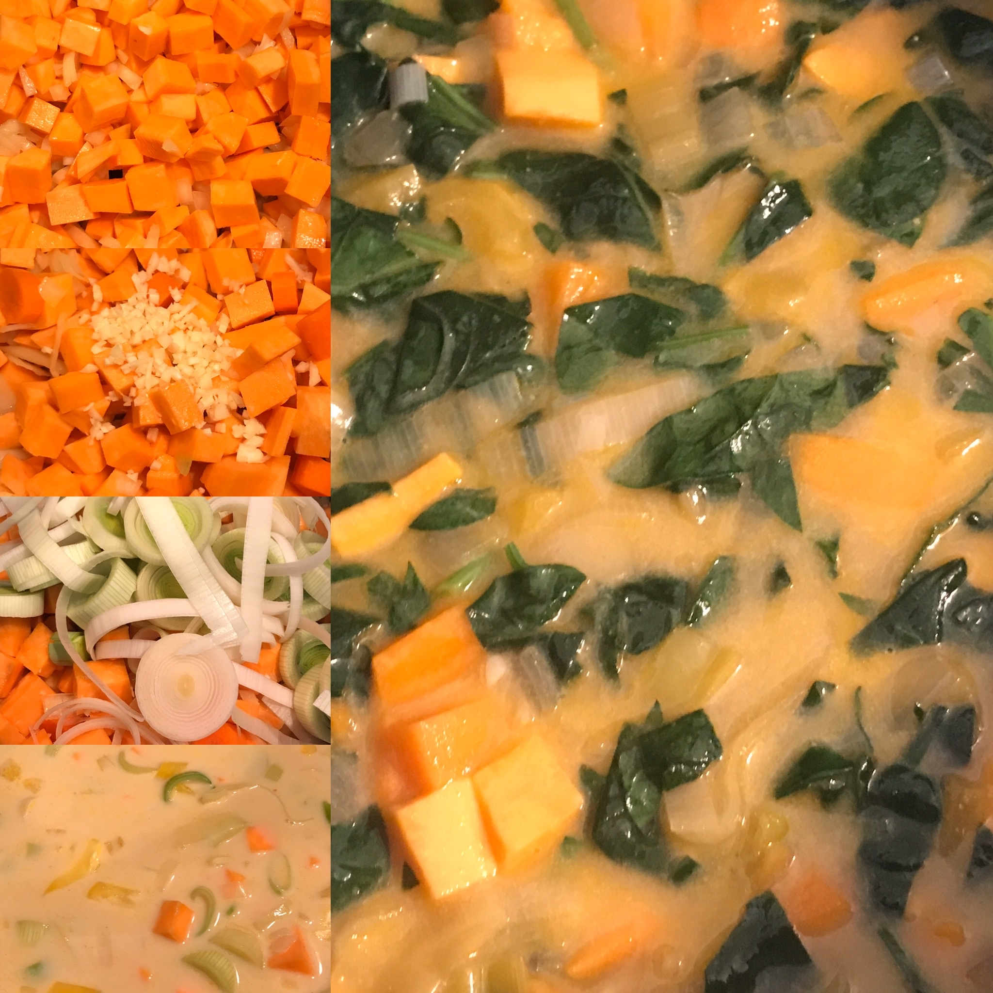 Coconut, Yam, and Leek Soup