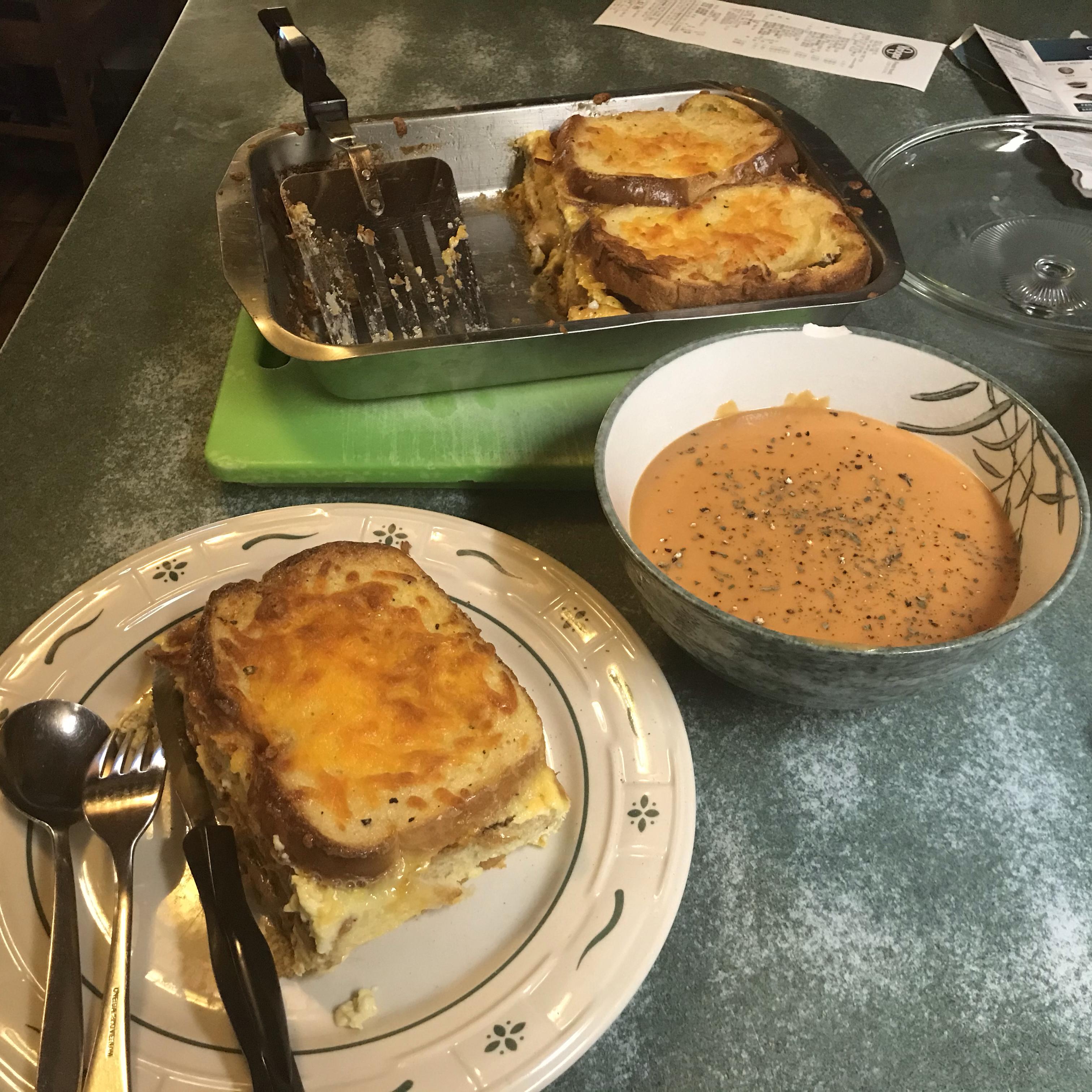 Grilled Cheese Brunch Bake Bernie