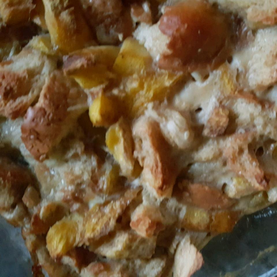 Mango Cardamom Bread Pudding