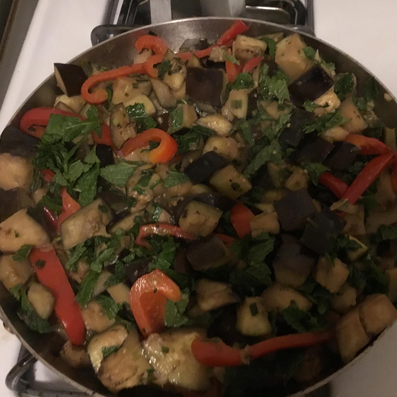 Vegan Eggplant Curry with Fresh Mint simon dz