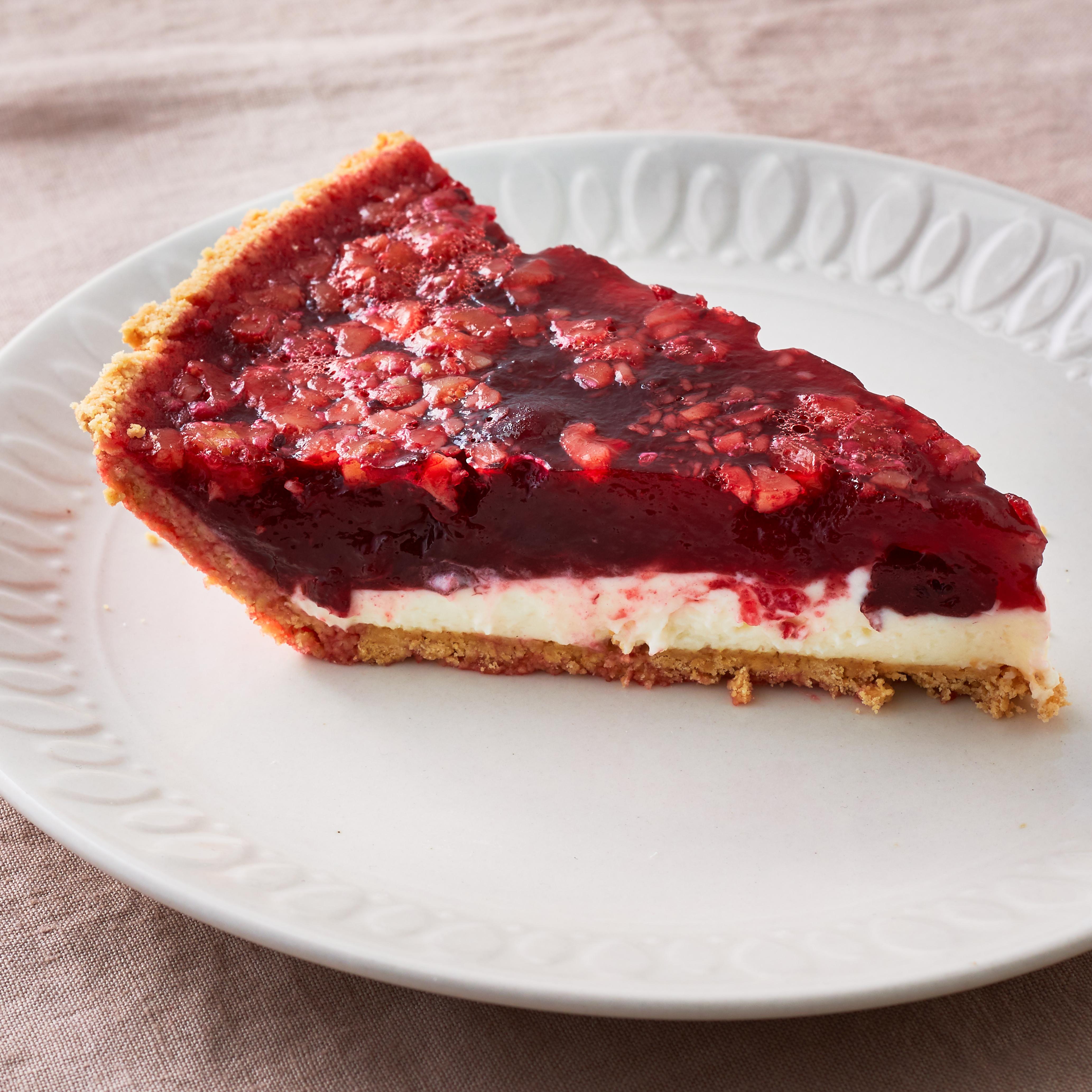 No-Bake Cranberry Sauce Pie