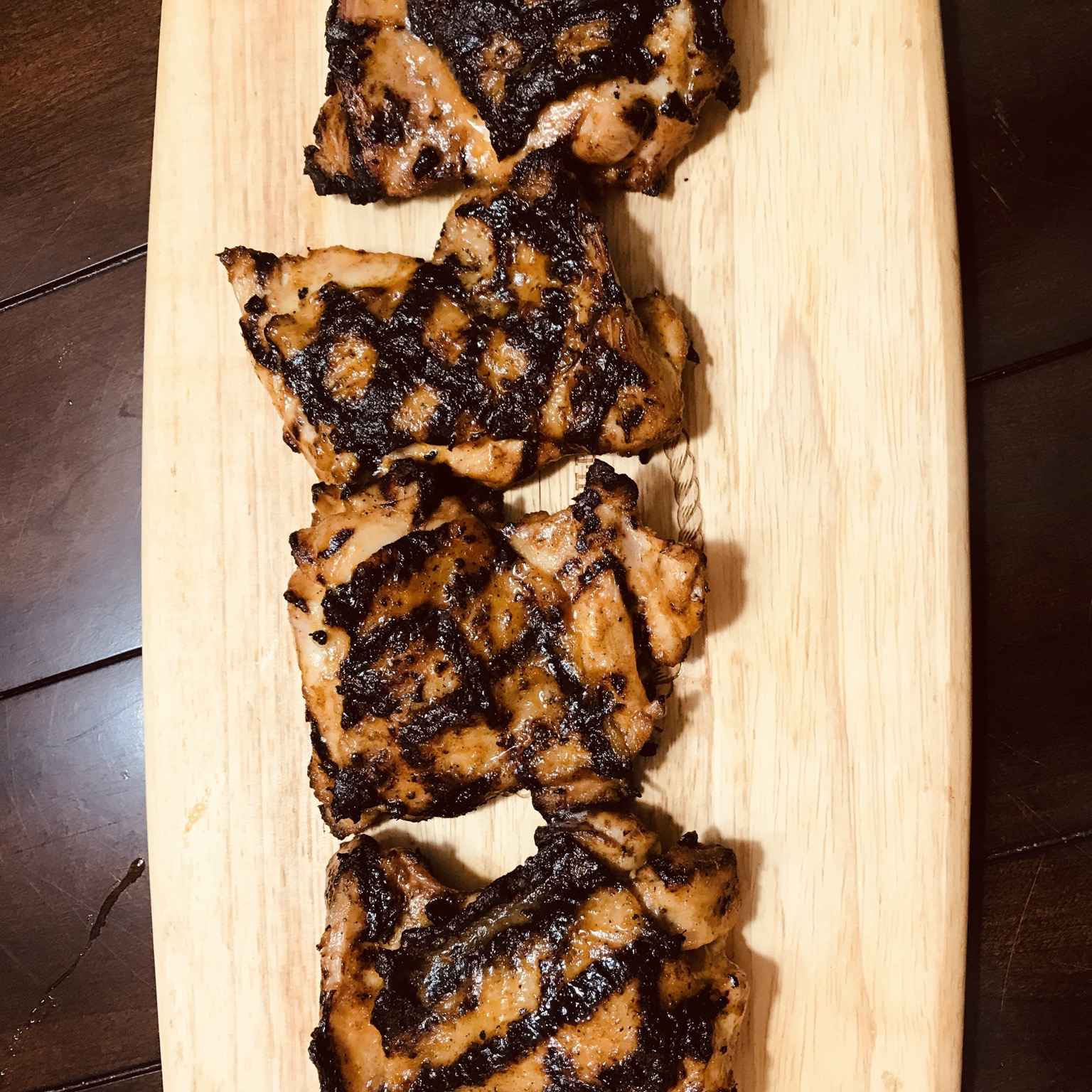 Grilled Chicken Thighs with Mango-Ancho Sauce BaseballFan