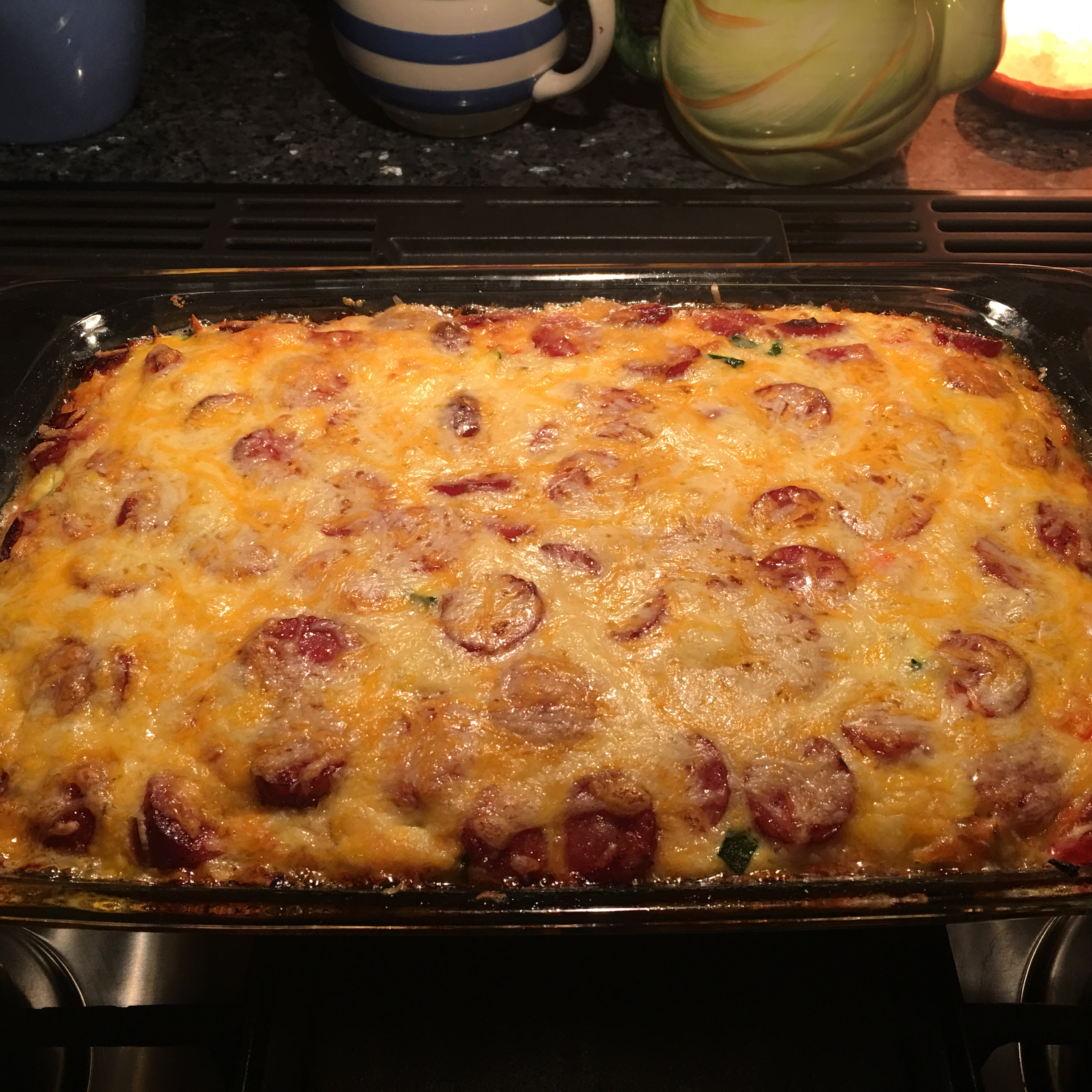 Hash Brown Casserole with Hillshire Farm® Smoked Sausage