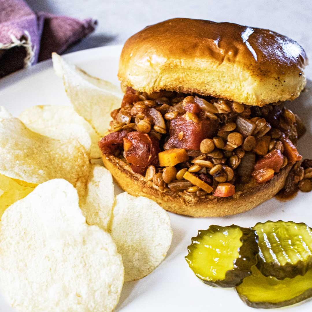 Slow Cooker Vegan Sloppy Joes with Lentils