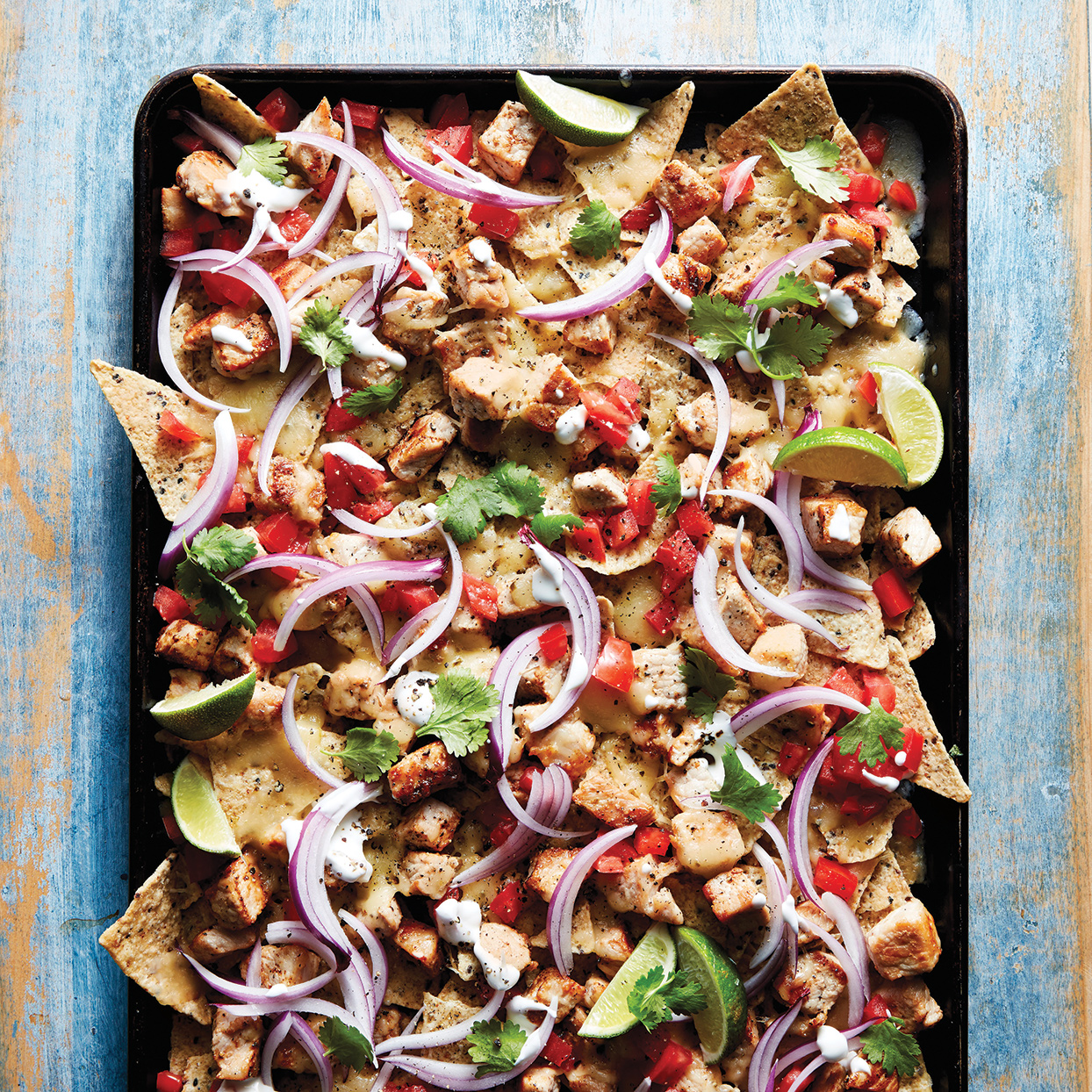 Slow-Cooker Honey-Lime Pork Nachos